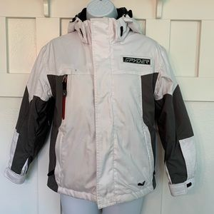 Spyder White and Gray Thinsulate Ski Jacket